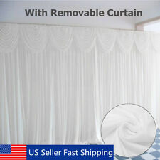 118'' x118'' Wedding Party Stage Backdrop Background Curtain Draping + Swang