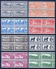 NEWFOUNDLAND — SCOTT 233-243 — 1937 KGVI PICTORIAL SET — MNH BLK/4 — SCV $180.00