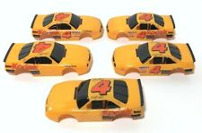 5pc 1990s TYCO Marlin #4 Wide Pan Slot Car KODAK GOLD PLUS Chevy BODY SET 9112