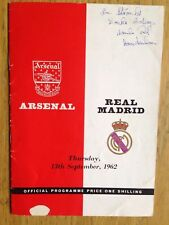 Arsenal v Real Madrid 1962/63 friendly programme