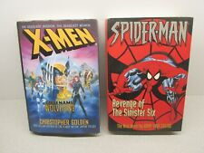 2 MARVEL HC Books - X-MEN CODENAME WOLVERINE & SPIDER-MAN REVENGE SINISTER SIX