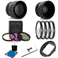 2X Telephoto + Wide Angle Lens + 4 PC Close UP Set + Adapter For Gopro Hero3+ 4