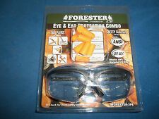 FORESTER EAR PLUGS & GLASSES GREAT 4 LANDSCAPING CONSTRUCTION WORKLAND CLEARING