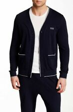 New Mens Hugo Boss 4 Button  Cardigan Sweater Dark Navy Blue Size S $390