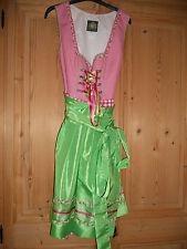 Hammerschmid Dirndl mit Schürze,Gr 46,Pink/Grün,gebraucht wie neu 1 x getragen