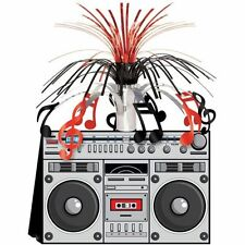 Card Boom Box Centerpiece - 80's Stereo Party - Musical Party Table Decorations