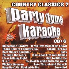 Party Tyme Karaoke: Country Classics, Vol. 2 by Sybersound (CD, Jul-2005,...