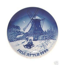 """Bing & Grondahl 1996 Christmas Plate """"Winter at the Old Mill"""" Mint & New In Box"""