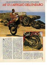 Z28 Ritaglio Clipping 1985 Pirelli MT 17 Yamaha Tenere XT 600 prova in Sardegna