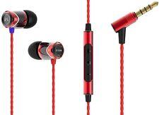 SoundMAGIC E10M RED-BLACK In-Ear Headphones Earphones Earbuds w/ Mic for iPhones