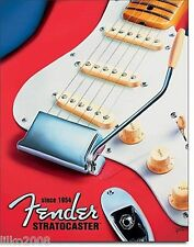 FENDER GUITARS USA, RED STRATOCASTER METAL WALL SIGN 40x30 cm , SINCE 1954