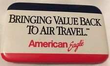 Vintage American Eagle Pin Employee Bring Value Back Air Travel Red White Blue