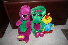 Lot of 3 stuffed animals Barney, Baby Bop, BJ vintage