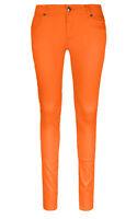 New Women Skinny Slim Pants Neon Colors Sizes 0-13 Petit Fit Zipper Pockets