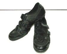 Shimano SPD SH-MA80 Mens Size 9 EU43 Mountain Biking Shoes Black Silver 3 Strap