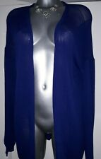 * RIVER ISLAND * LADIES SIZE 16 NAVY LONG SLEEVED LONG CARDIGAN-EXC COND-LOVELY