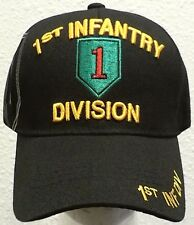 U.S. ARMY 1ST INFANTRY INF DIVISION DIV BIG RED ONE INSIGNIA EMBLEM LOGO CAP HAT