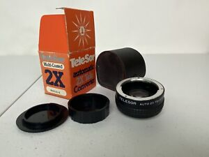 Telesor Automatic 2X Tele Converter For Pentax K Mount Camera w/ Original Box
