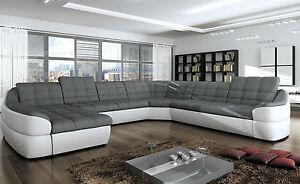 Couchgarnitur INFINITY XL U Sofa mit Relaxfunktion Couch Polsterecke Ecksofa