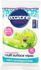 ECOZONE Multi Surface Wipe Kills 99.9% Biodegradable Anti-Bac 40 Pack