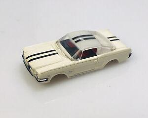 aurora thunderjet tjet ford mustang white/black stripes ho slot car body