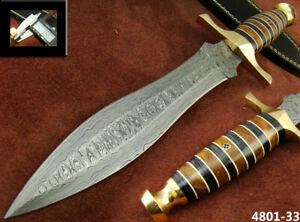 ALISTAR SUPERB HANDMADE DAMASCUS STEEL KNIFE DOUBLE EDGE HUNTING DAGGER 4801-33