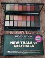Revolution Eyeshadow Palette New-Trals vs Neutrals -Vegan, Cruelty & Gluten Free
