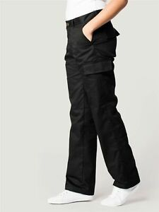 Ladies Combat Cargo Work Trousers Size 8 to 22 in BLACK or NAVY