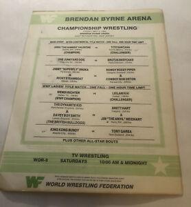 WWF Program insert Lineup card May 3,1985 Brendan Byrne Arena New Jersey