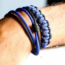 EDC Self Defense Bracelet Everyday Carry Survival Weapon Self Defense Tool BLUE