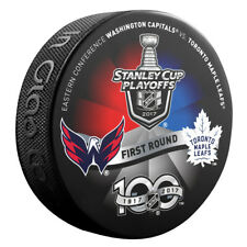 2017 WASHINGTON CAPITALS vs TORONTO MAPLE LEAFS Stanley Cup Playoff Hockey Puck