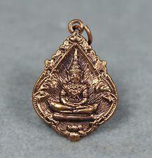 Rare Coin Pendant 2 side Phra Nak Prok and Phra Kaew Morakot Thai Amulet Buddha