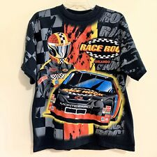 Vintage Race Rock Orlando T Shirt All Over Print Chase Rock Large 2 Side Racing