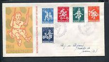 FDC E36 - E 36, Kinderzegels 1958, met adres ;