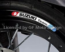 Suzuki Team GSX-R 600 750 1000 gsxr 8x Rad Aufkleber Felgenaufkleber Stipes /240
