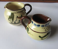 Two Vintage Torquay motto ware Jugs