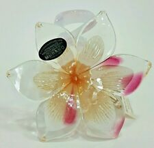 Murano Art Glass Flower Sculpture Italian Hand Blown Mother Gift Home Decor 7