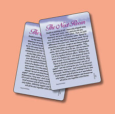 """""""The Next Room"""" [Death Is Nothing At All Memorial Poem] - 2 Verse Cards sku# 683"""