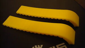 FORTIS GENUINE YELLOW SILICONE STRAP FOR B-42 & SPACEMATIC MODELS. BRAND NEW!