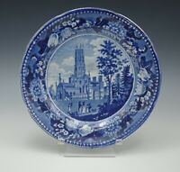 XIX CENTURY CLEWS STAFFORDSHIRE FONTHILL ABBEY WILTSHIRE PLATE HISTORIC BLUE