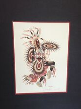 "Woody Crumbo ""Crow Dancer"" Artist Signed Silk Screen-Vintage"