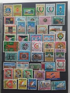 A SELECTION OF 140 STAMPS FROM KUWAIT - MAINLY USED - BUT SOME MINT