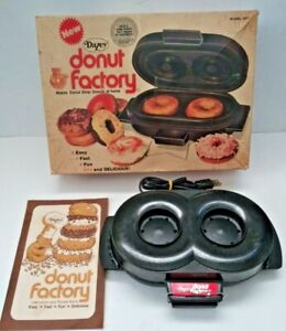 Dazey Donut Factory Donut Maker With instructions and recipes