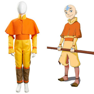 Kid's Avatar: The Last Airbender Avatar Aang Cosplay Costume Children Outfit