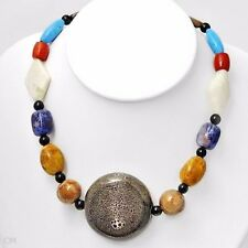 w/Agates,Corals,Sodolites &Turquoise Charming Necklace