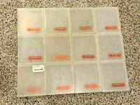 Lot of 12 OEM Original Nintendo NES Clear Promo Plastic Clamshell Hard Cases