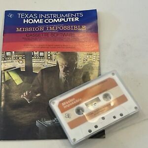 TI 99/4A Mission Impossible Game Cassette Texas Instruments Untested