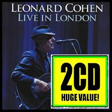 LEONARD COHEN (2 CD) LIVE IN LONDON ~ CLASSIC FOLK ROCK SUZANNE~HALLELUJAH *NEW*