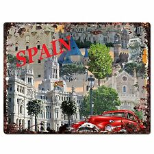 PP0789 Spain Classic Car Chic Plate Sign Home Shop Restaurant Cafe Decor Gift