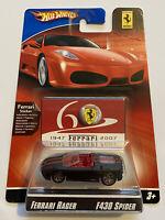 2007 Hotwheels Ferrari Racer F430 430 Spider Black 8/24 60th Anniversary MOC!